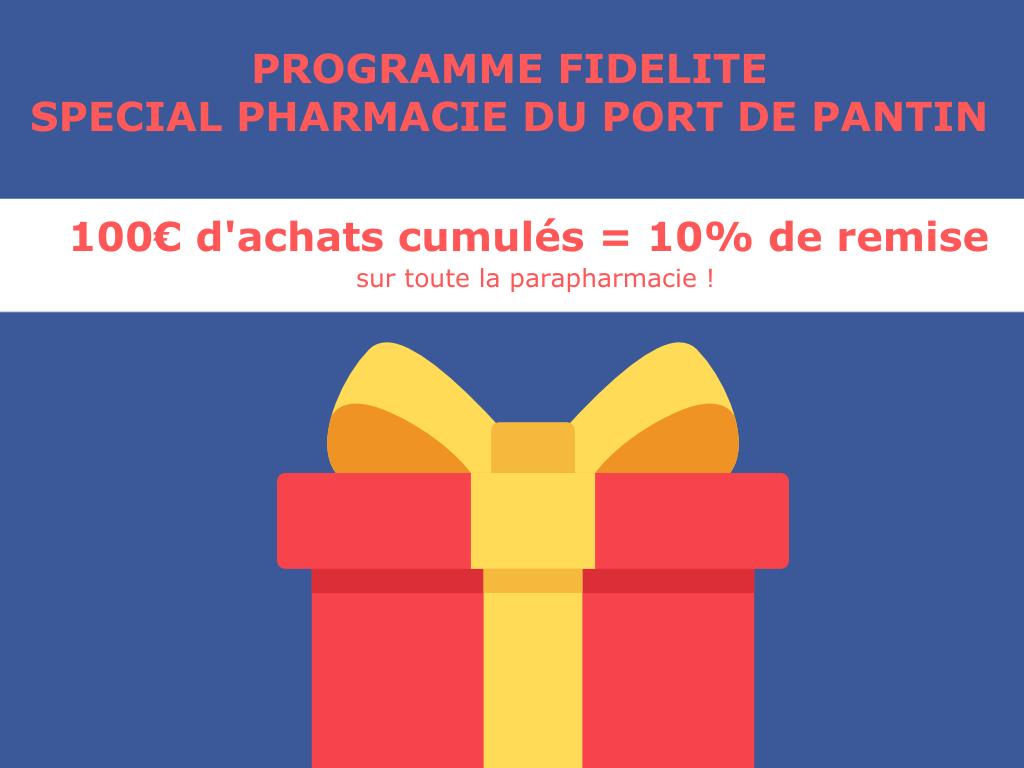 Pharmacie du Port de Pantin - Ouvert 7j/7j de 09h00 à 21h00 Non Stop - Programme fidelité